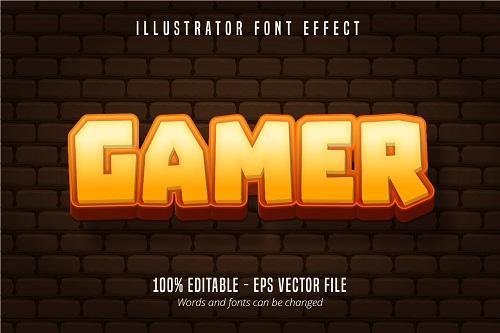 Gamer Text Font Vector