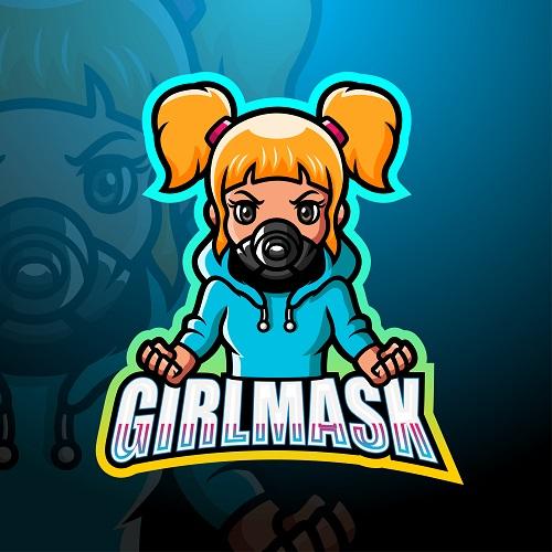 Girl Mask Logo Vector