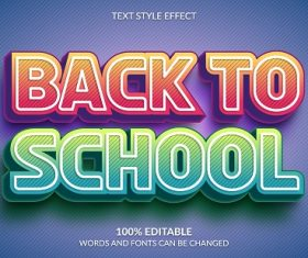 Glowing Back To School Font Background Vector