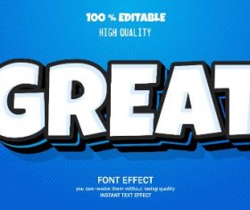 Great Editable Text Effect Vector