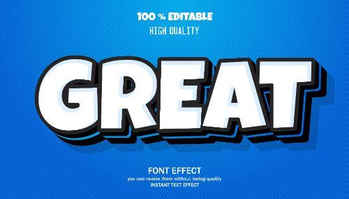 Great Editable Text Effect Vector