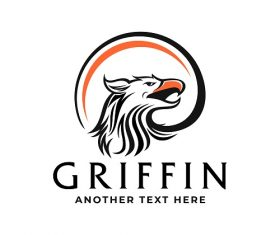 Griffin or Eagle Logo Template Vector