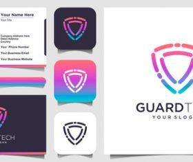 Guard tech business card logo vector