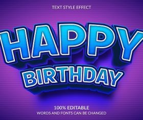 Happy Birthday Font Background Vector