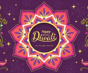 Happy Diwali Celebration Poster Vector