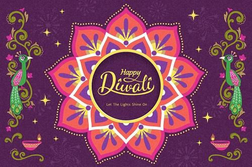 Happy Diwali Celebration Poster Vector