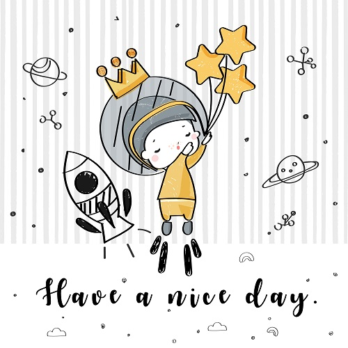 Have A Nice Day Drawing Stars Vector