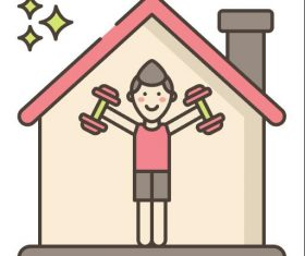 Home Fitness vector