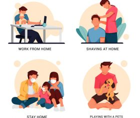 Home life vector