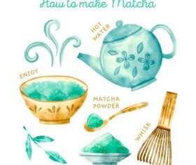 How To Make Matcha Vector