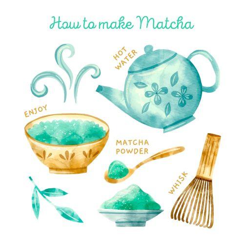 How To Make Matcha Vector