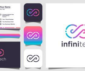 Infinitech business card logo vector