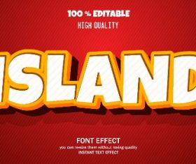Island Editable Text Effect Vector