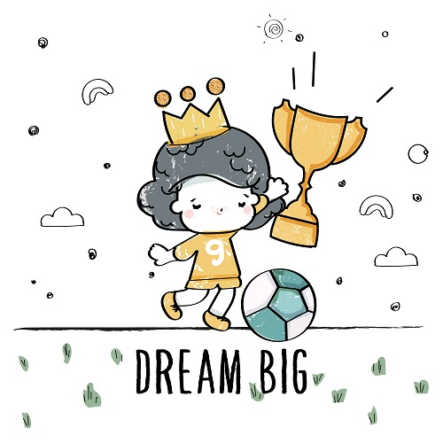 King Playing Dream Big Vector