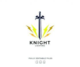 Knight logo vector