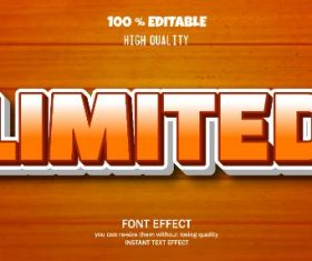 Limited Editable Text Effect Vector