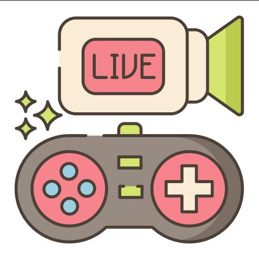Live Gaming Stream vector