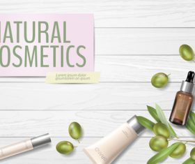 Natural cosmetics cover vector