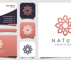 Nature business card logo vector