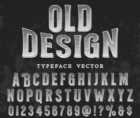 Old Design Typeface Font Vector