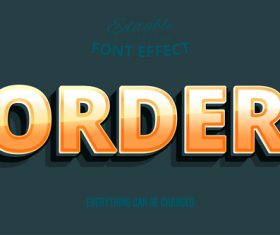 Order editable font effect text illustration vector