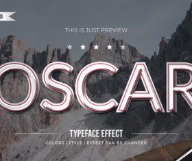 Oscar editable font effect text illustration vector