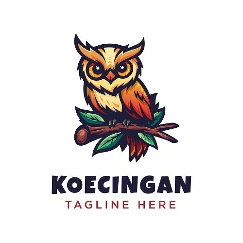 Owl Koecingan Logo Vector