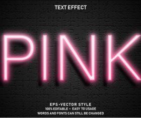 PINK editable font ffecte text vector