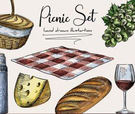 Picnic Design Banner  Vector
