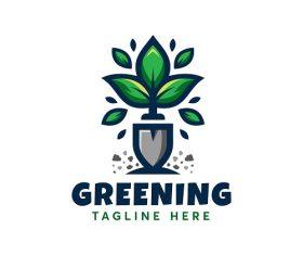 Plant Greening Logo Vector