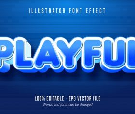 Playful Text Effect Vector