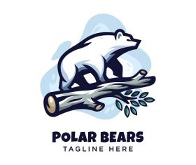 Polar Bears Logo Vector