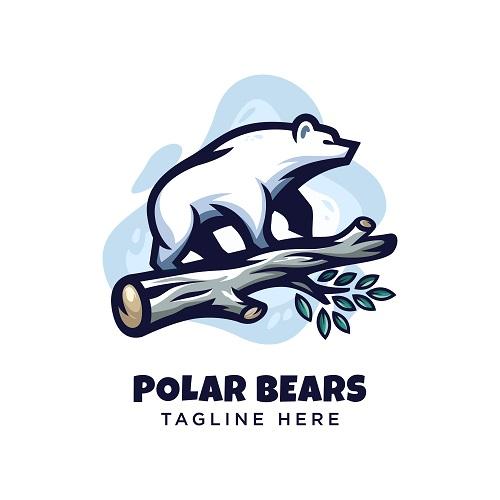 Polar Bears Logo Vector
