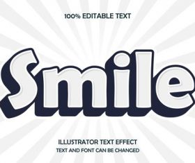 Printing font editable ffecte text vector
