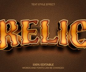 RELIC editable font ffecte text vector