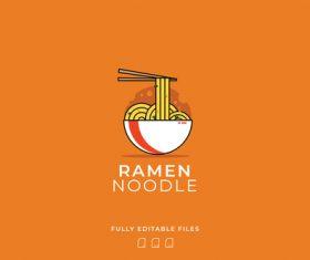 Ramen noodle logo vector