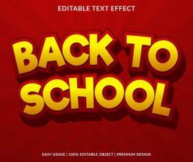 Red background golden editable font ffecte text vector