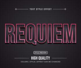 Requiem editable font effect text illustration vector