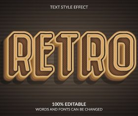 Retro Font Background Vector