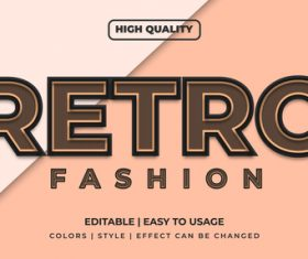 Retro editable font effect text illustration vector