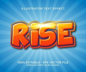 Rise Text With Blue White Background Vector