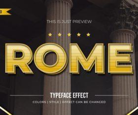 Rome editable font effect text illustration vector