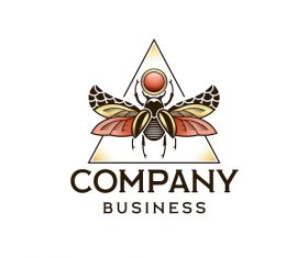 Sample Insect Company Business Logo Vector