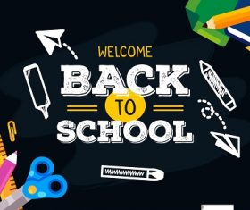 School Arts Back To School Background Vector