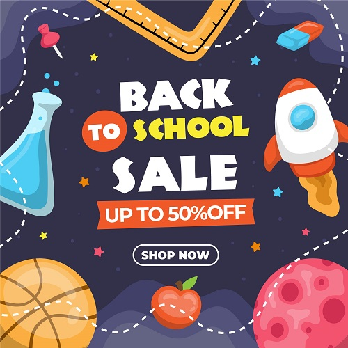 Science Back To School Background Vector