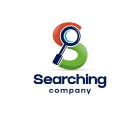 Searching Company Sample Logo Vector
