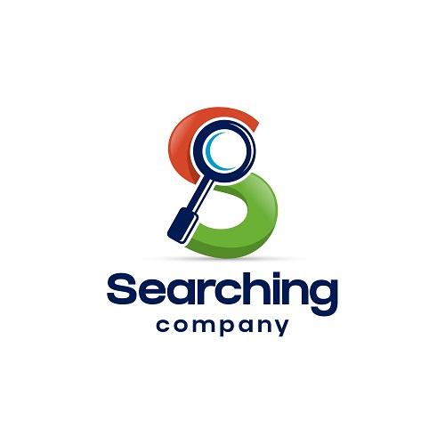 Searching Company Sample Logo Vector