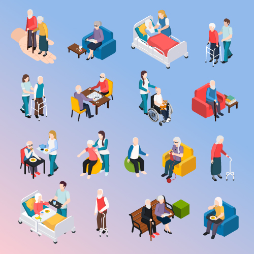 Set of People in the Hospital Vector