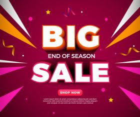 Shop now sales vector