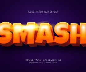 Smash Text with Dark Purple Background Vector